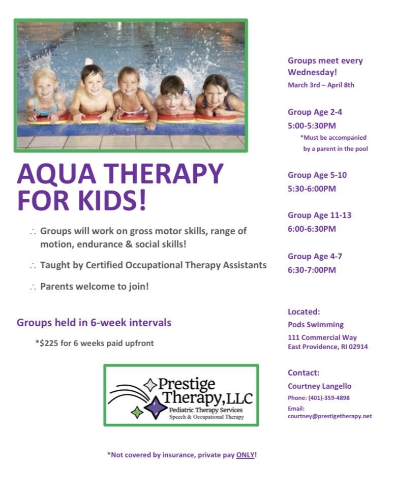 Aqua Therapy - Prestige Therapy, Rhode Island